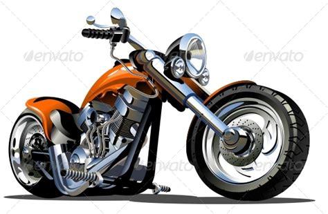 Vector Cartoon Motorbike By Mechanik