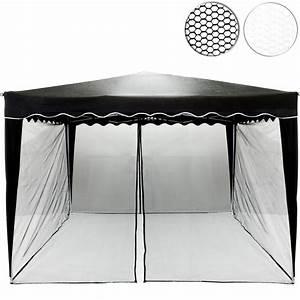 Pavillon 3 X 3 : moskitonetz f r 3 x 3 pavillon schwarz pavillons garten ~ Orissabook.com Haus und Dekorationen