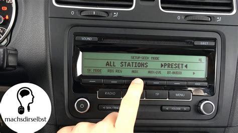 radio multimedia original volkswagen vw gol 6 t 225 ctil gps golf vi aux freischalten aktivieren rcd310 weitere modelle tutorial hd youtube