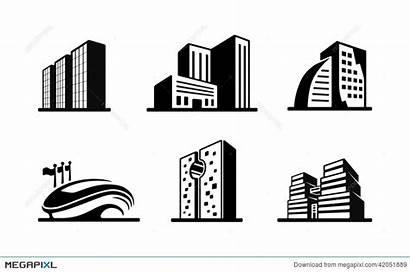 Building Vector Apartment Clipart Icons Buildings Rise