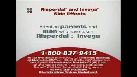 sokolove law tv spot risperdal  invega side effects