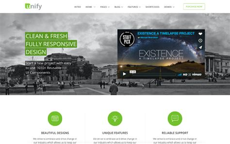 unify responsive website template business corporate