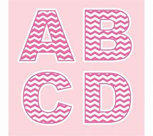 chevron pink letter foam board alphabet display for all With foam board letters