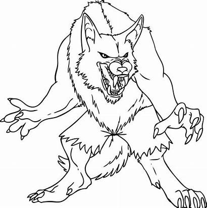 Coloring Pages Demon Zombie Werewolf Wolf Wolves