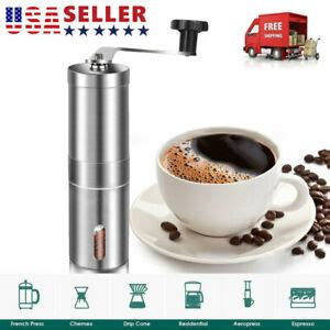 Grinding your own beans with a manual burr grinder does have some limitations. Manual Coffee Grinder with Adjustable Setting Conical Burr Mill&Brushed Bean USA | eBay