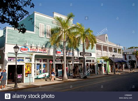 main street and tourist attractions on duval street in key