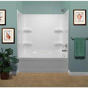 Shop Style Selections Acrylic Bathtub Wall Surround