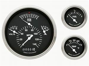 Classic Instruments 57 Chevy Car Package Gauge Panel Cluster Dash  Black