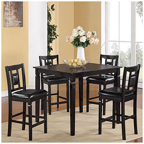 Big Lots Kitchen Table Sets espresso 5 pub set big lots