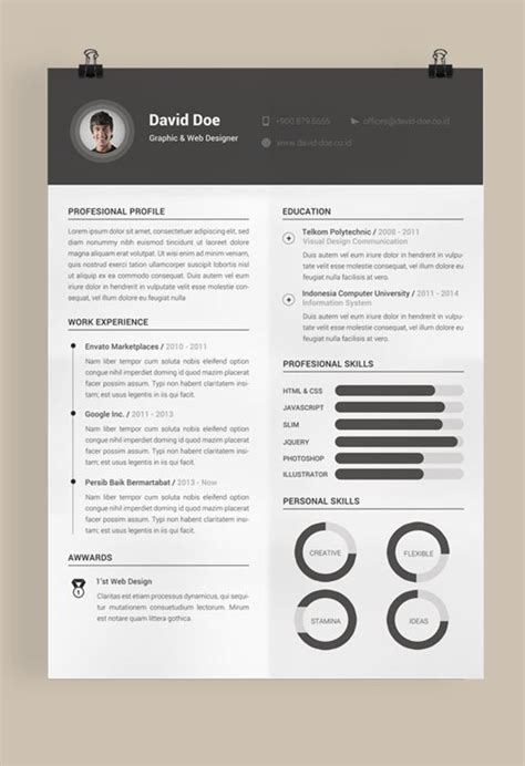 Top Creative Resumes 2015 by 40 Best Free Resume Templates To