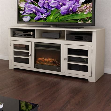 dcor design west lake  tv stand  electric fireplace