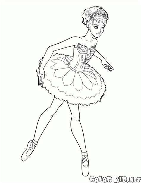 coloring page ballerina   modest dress