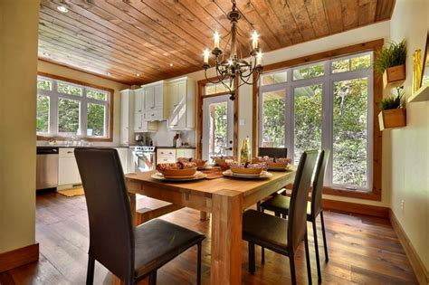 cozy cottage rustic dining room montreal