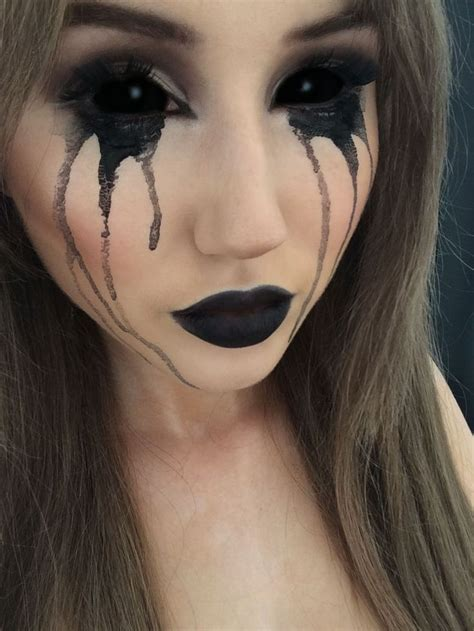 black halloween makeup ideas  explore  darkest side halloweenmakeup halloweenfun hallo