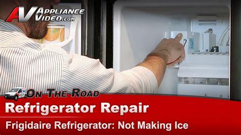 frigidaire fscrdbe refrigerator repair  making ice ice maker appliance video