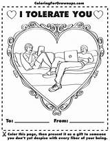 Coloring Adult Adults Hilarious Funny Colouring Games Activities Grown Ups Fro Awesome Happy Inappropriate Humor Colored Printout Really sketch template