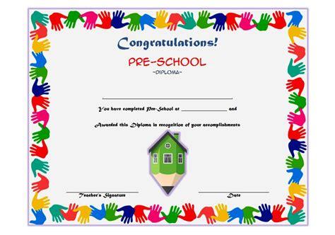 preschool diploma template printable kindergarten diploma kidz activities