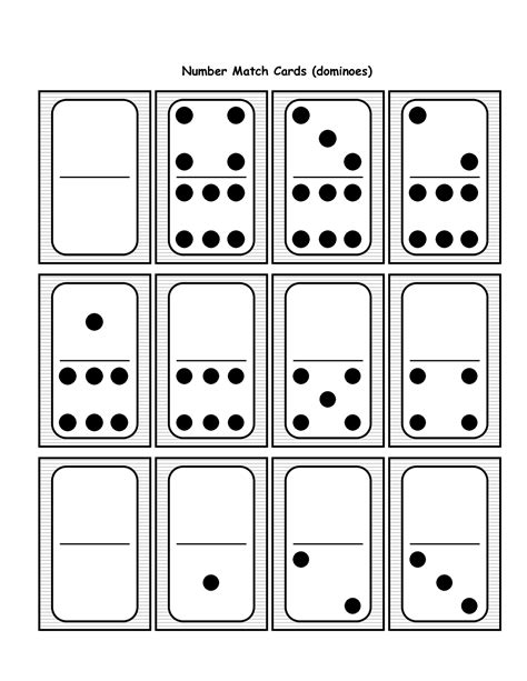 15 Best Images Of Blank Domino Worksheets  Blank Domino Addition Worksheet, Domino Addition