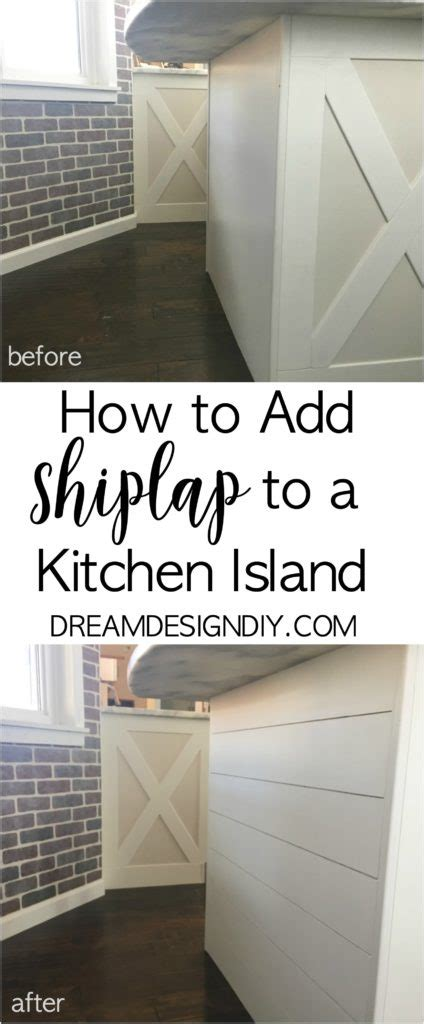 how to add a kitchen island how to add shiplap to a kitchen island easy budget