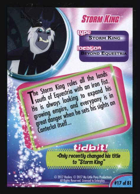 mlp storm king trading cards mlp merch
