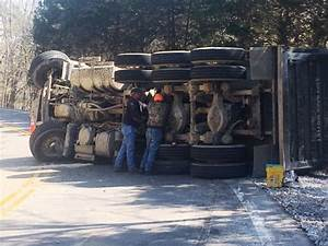 Dump Truck Loaded with Gravel Overturns - WJLE Radio