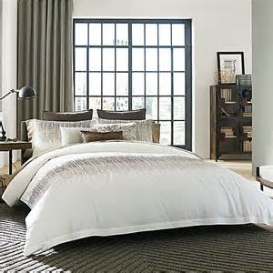 buy kenneth cole reaction home etched duvet cover in ivory from bed bath beyond