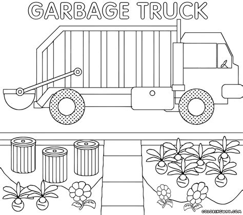 garbage truck coloring pages coloring pages    print