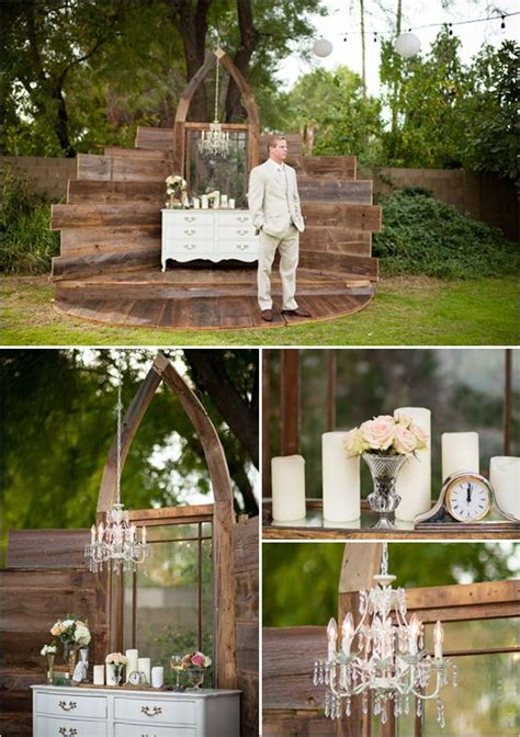 shabby chic wedding backdrop ideas mesa arizona shabby chic wedding ceremony backdrop wedding and shabby chic