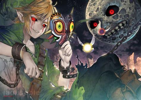 Zelda Majoras Mask Dark Moon Fan Art Gaming