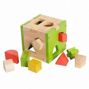 Cube En Bois Bébé : jouets des bois cube en bois formes g om triques everearth jouets des bois ~ Dallasstarsshop.com Idées de Décoration