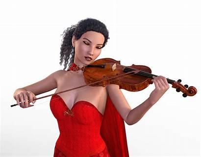 3d Woman Violin Playing Domain Illustrations Albums