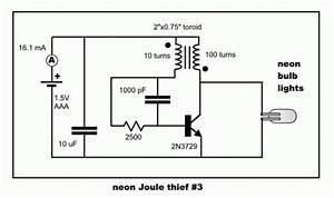 Joule Thief Circuit Diagrams  Etc