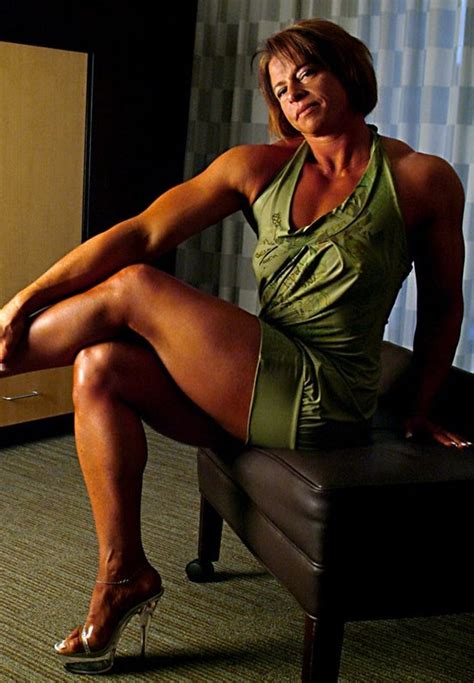 muscular womens dressed christy donat
