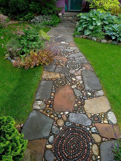 walkway path garden path walkway ideas recycled things