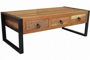 Table Basse Industrielle Avec Tiroir : table basse 3 tiroirs wilham design sur sofactory ~ Teatrodelosmanantiales.com Idées de Décoration