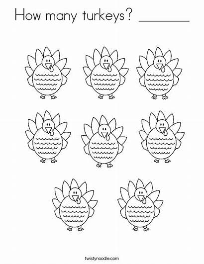 Coloring Turkeys Many Sheet Thanksgiving Pages Turkey