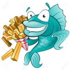 Fish and Chips Cartoon Clip Art