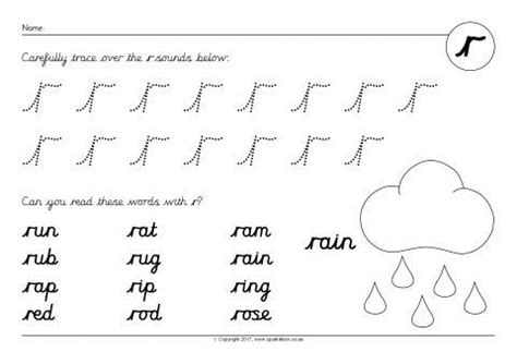 phoneme worksheets  cursive sb sparklebox