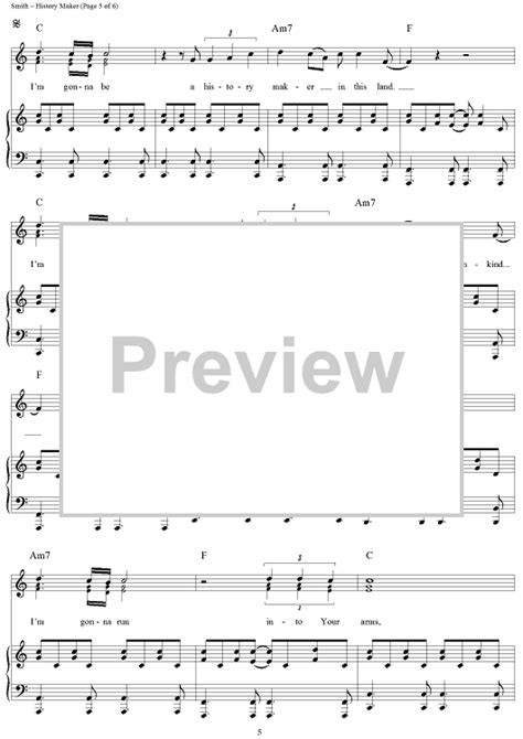 history maker sheet music music for piano and more
