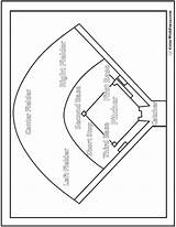 Baseball Coloring Diamond Pdf Worksheet Printable Chart Colorwithfuzzy sketch template
