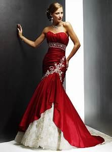 gorgeous wedding dress gorgeous red wedding dress With red dress wedding