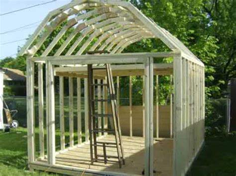 how to build a barn roof shed building a gambrel shed