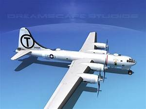 Boeing B-29 Superfortress Mermaid Maryanne 3D Model rigged