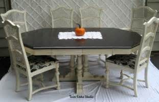 Ethan Allen Dining Room Table Round by Vintage Ethan Allen Dining Set Re Do Twin Oaks Studio