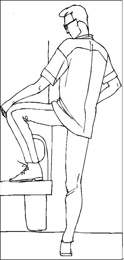 mann  hemd von hinten ausmalbild malvorlage kinder