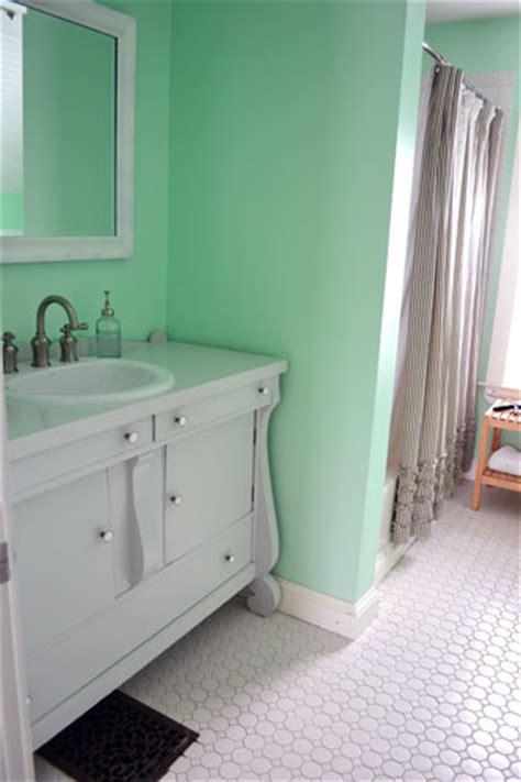 gray bathroom vanity   mint bathroom angies roost