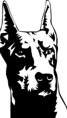 doberman head silhouette commission  everkai tattoo