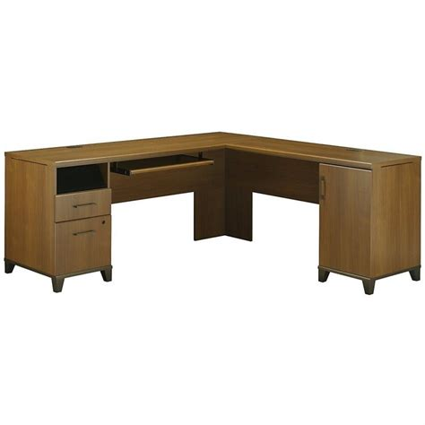l shaped oak computer desk bush achieve 70 quot l shape warm oak computer desk ebay