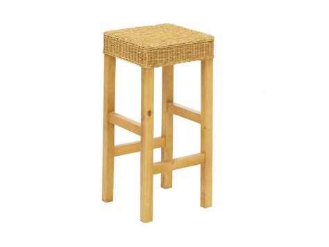 tabouret de bar en pin tabouret de bar popat pin massif rotin tress 233 naturel
