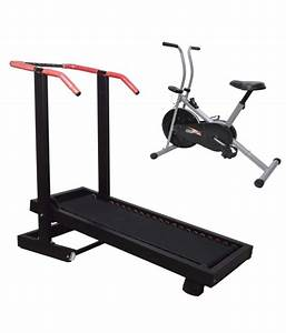 Pcb Manual Treadmill With Fitness Bike  Buy Online At Best